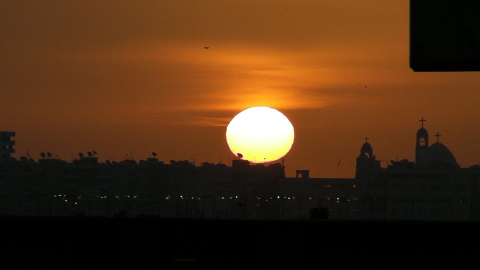 Sunrise over Port Said, Egypt.