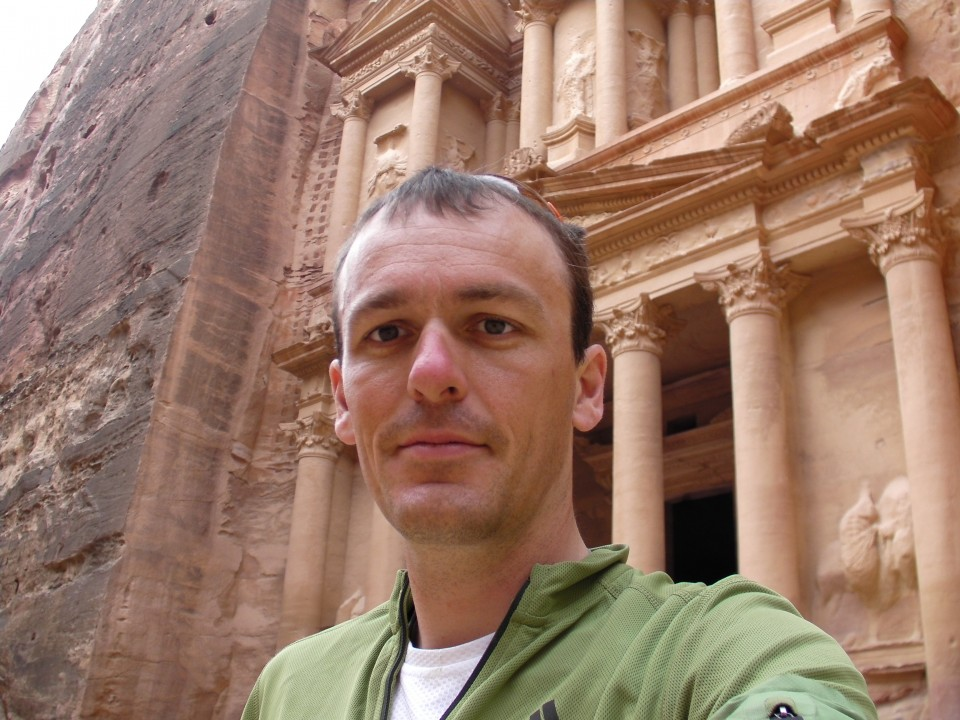 Vin Cox in Petra, Jordan.
