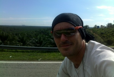 A massive palm oil plantation behind Vin Cox in Malaysia