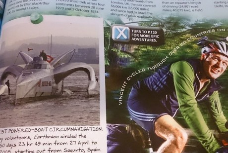 Vin Cox in the Guinness Book of Records